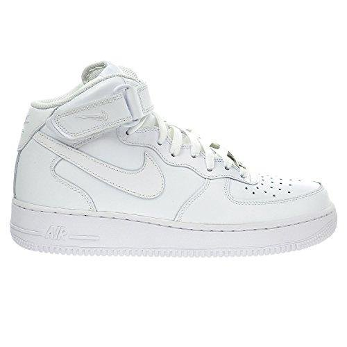Nike Air Force 1 Mid 07 White/White Mens Fashion Sneakers 315123-111 (12 M) (Nike 12 Air Force Size 1 Mid)