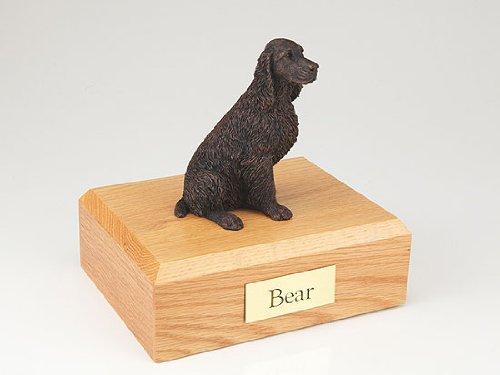 - GENUINE North American Hardwood and Bronze Springer Spaniel Dog Figurine Pet Cremation Urn Medium