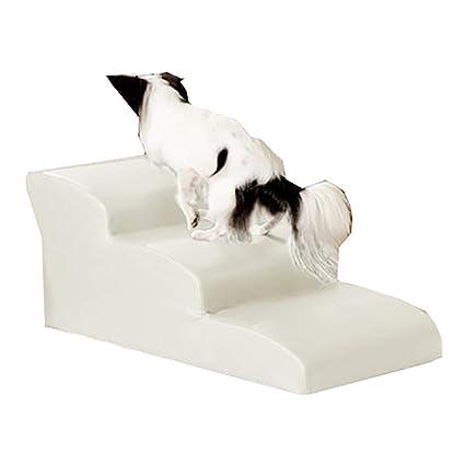 LXLA - Escaleras de Mascotas PU Escaleras 丨 Escalera de 3 Pasos para Perros pequeños y