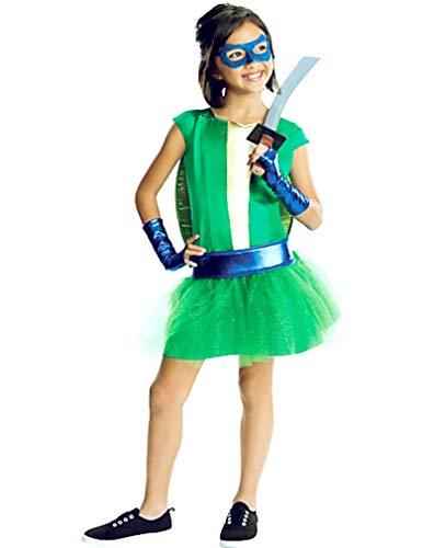 HalloCostume Girls Leonardo Costume Deluxe - Teenage Mutant Ninja Turtles, Halloween Costumes for Girls