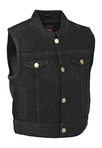 Milwaukee Performance Denim Unisex-Child Kids' Club Style Snap Front Vest (Black, Large)
