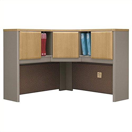 (Bush Business Furniture Series A Collection 48W Corner Hutch in Light Oak )