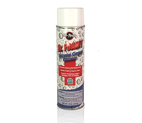 Dr Foamy Enzyme Carpet Cleaner with Inverted Sprayer for Dispensing at ANY Angle - 18oz (Any Enzyme Cleaner)