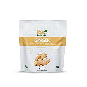 Yae! Organics Ginger Root Powder/3oz/20 Servings//100% Pure