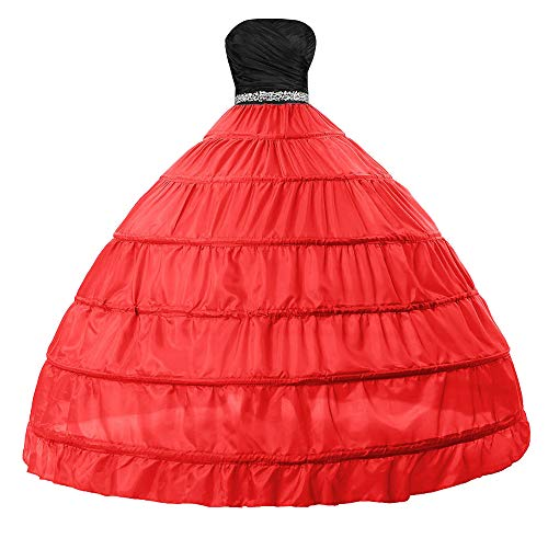 (Edith qi Bridal Dress Gown Half Slip 6 Hoop Petticoats Wedding Crinoline Underskirt)