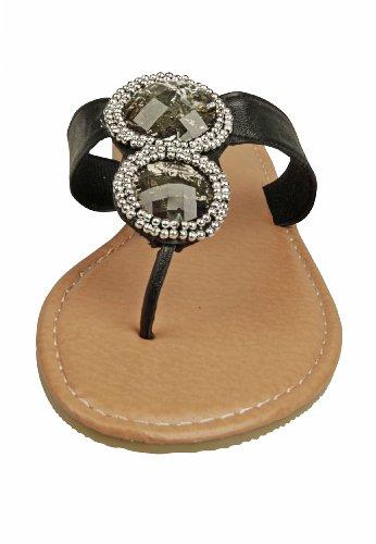 Capelli New York Damen Zehensandale Diamond Black Combo
