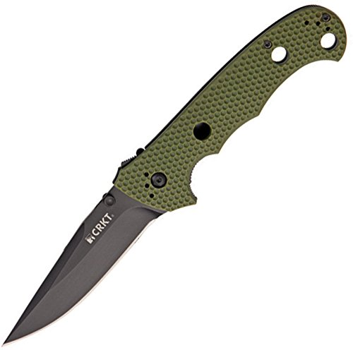 Columbia River Knife & Tool Hammond Cruiser Folding Knife with Black Blade and OD Green Zytel Handles