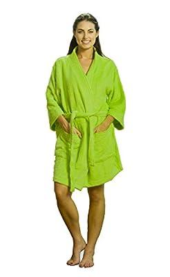 Terry Kimono Bamboo Bathrobes, Thigh Length Cotton Robes for Women