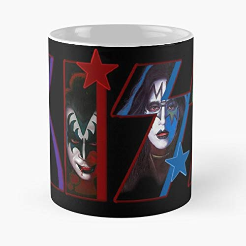 Kiss Rock Band - Ceramic Novelty Cup Best Gift For Father Day