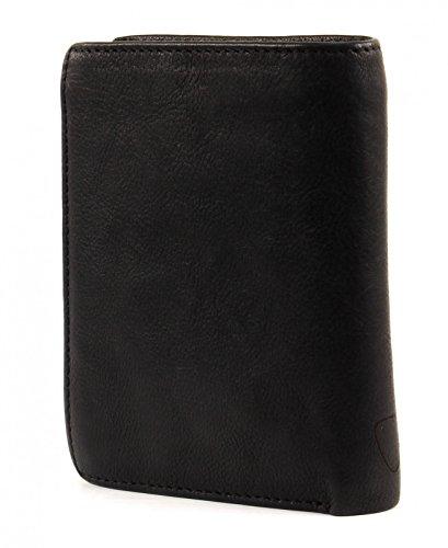Strellson Upminster Monedero piel 10 cm cognac Black (Negro)