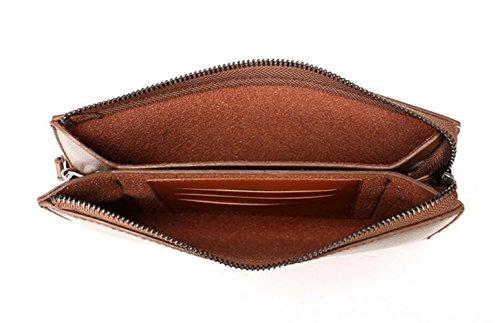 Furto Brown1 Frizione Uomini Bag Moda D'affari Cerniera Portafogli wCU0Eq