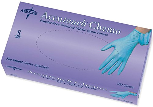 Medline MDS192085 Accutouch Chemo Nitrile Exam Gloves, Latex Free, 9'' Length, Medium, Blue (Pack of 1000) by Medline