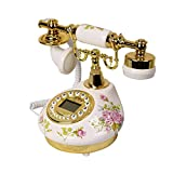 Fashion Home ZHILIAN Retro European Style Rustic Telephone Landline Golden Family Living Room Decoration Telephone Wired Telephone