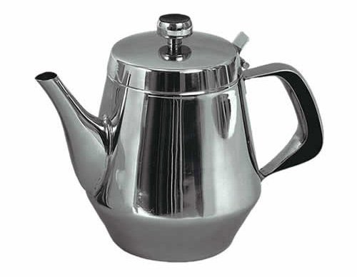 Stainless Steel Gooseneck Teapot - Stainless Steel Gooseneck Tea Pot w/Vented Hinged Lid, 20 Fluid Ounces (2-3 Cups) by Pride Of India
