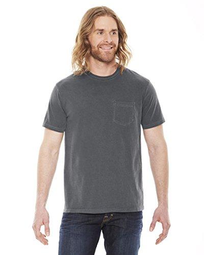 Authentic Pigment Men's XtraFine Pocket T-Shirt M (Pigment Dyed Cotton Pocket Tee)