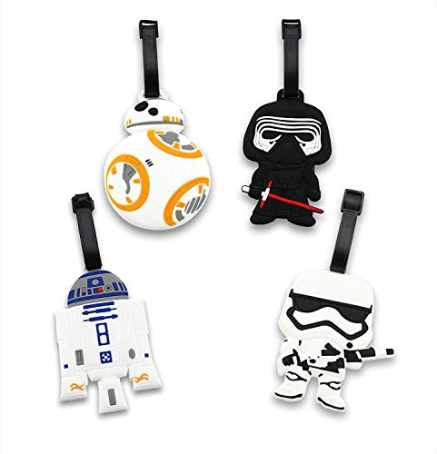4 Pack Cute Silicone Luggage Tags, Bag Tag Travel ID Labels Tag For Baggage Suitcases Bags
