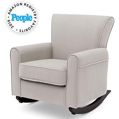 Delta Children Lancaster Rocking Chair Featuring Live Smart Fabric, Linen