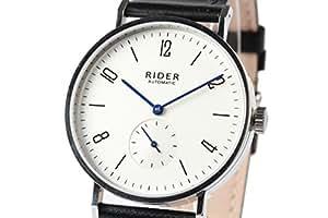 New GT&FQ M002 Automatic Bauhaus Style Wrist Watch Arabic Silver White Dial Black Strap Seagull ST17 Movement