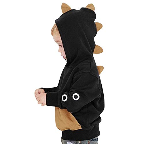 SMALLE ◕‿◕ Baby Girls Boys Winter Hooded Cartoon Dinosaur Outwear Tops Cute Boy Autumn Winter Pullover ()