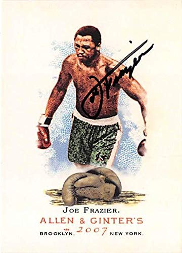 Joe Frazier Boxer - Joe Frazier autographed trading card (Boxing Boxer Smokin) 2007 Topps Allen Ginters #82 - Autographed Boxing Cards