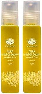 product image for Shankara Aura Essential Oil Deodorant - All-Natural Deodorant - Vegan, Anti-Bacterial, Odor-Fighting Deodorant for Men & Women - Alcohol, Paraben & Aluminum Free Deodorant - Lavender & Vetiver -2 Pack