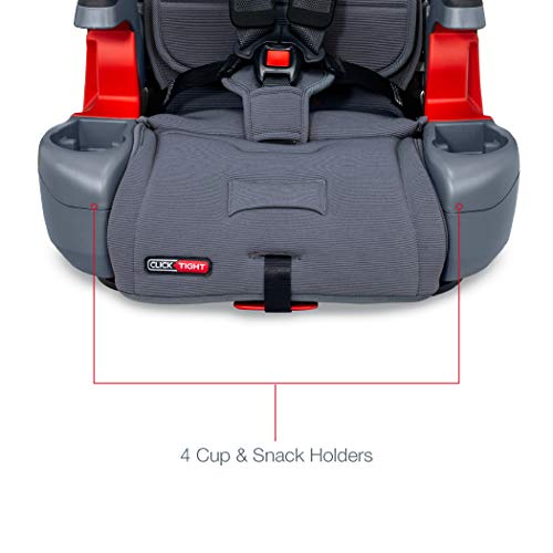 41dlrIhO16L - Britax Grow With You ClickTight Plus Harness-2-Booster Car Seat | 3 Layer Impact Protection - 25 To 120 Pounds, Otto Safewash Fabric [New Version Of Pinnacle]