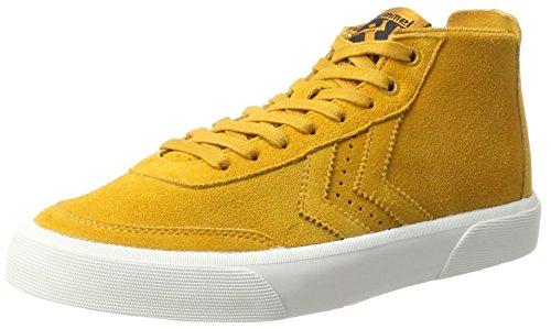 Hommel Unisex-adult Stockholm Suède Halfhoge Sneaker Bruin (inca Goud)