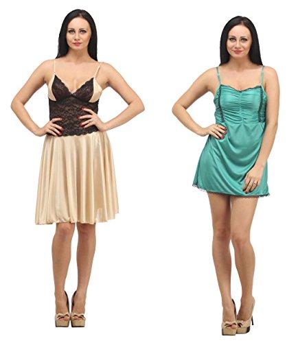 Klamotten Satin Babydoll Women Nightwear Pack Of Two X06-X96