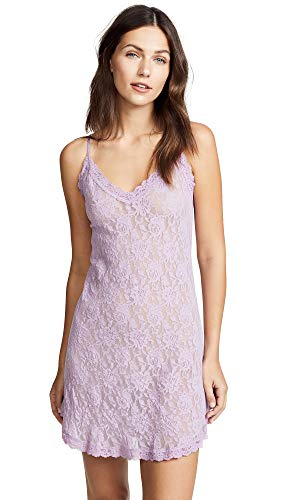 Hanky Panky Women's Signature Lace V Front Chemise, Waterlily, Purple, Medium