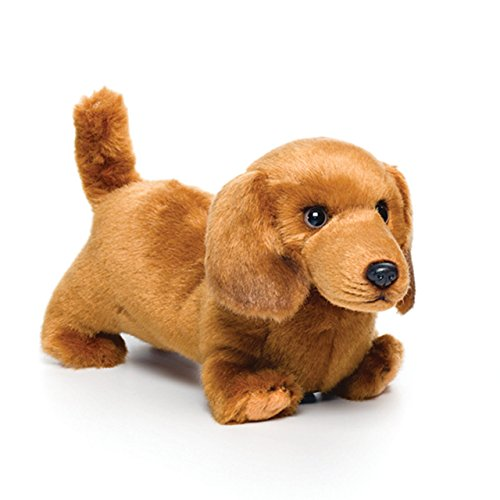 Nat and Jules Playful Small Dachshund Dog Children's Plush Stuffed Animal Toy (Dachshund Stuffed)