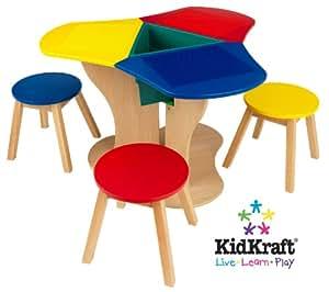 kidkraft activity center with stools toys games. Black Bedroom Furniture Sets. Home Design Ideas