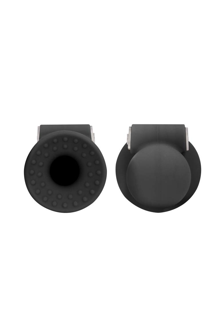 Shots Toys - Vibrating Nipple Suckers - Black