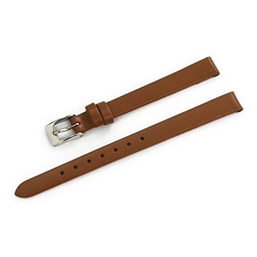 CASSIS Trento Genuine Calf Leather Watch Strap 9mm Gold Brown with Tool D1005H19041009M