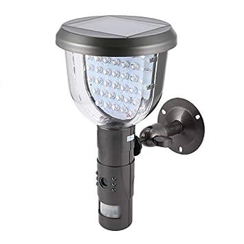 Tarjeta de Seguridad para cámaras de Seguridad Exterior de Infrarrojos para cámara de videovigilancia PIR de Seguridad de Energía Solar: Amazon.es: ...