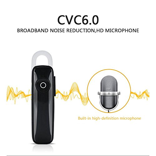 Tiptiper Bluetooth Headset,Wireless Bluetooth 4.1 In Ear Earpiece Earbuds Earphones Headphones for Office/Business/Worko