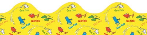 Eureka Dr. Seuss One Fish, Two Fish Board Trim and Classroom Decoration for Teachers, 12pc, 3.25'' W x 37'' -