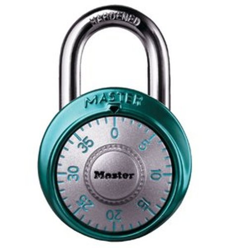 Master Lock 1561DLTBLU Locker Lock Combination Padlock, 1 Pack, Light Blue (Best Combination Lock For School Locker)