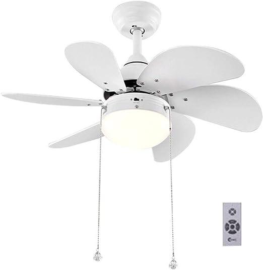 Ventilador techo Con Luz Lampara Y Mando A Distancia Ajuste De La ...