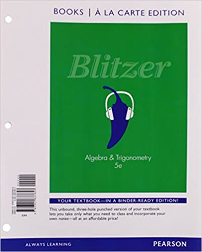 Algebra and trigonometry books a la carte edition 5th edition algebra and trigonometry books a la carte edition 5th edition 5th edition by robert f blitzer fandeluxe Choice Image