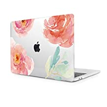 3D Print Hollow out Crystal Transparent Clear Floral Plastic Hard Case for Macbook Pro 13 inch with CD-ROM (Model:A1278) , Rose