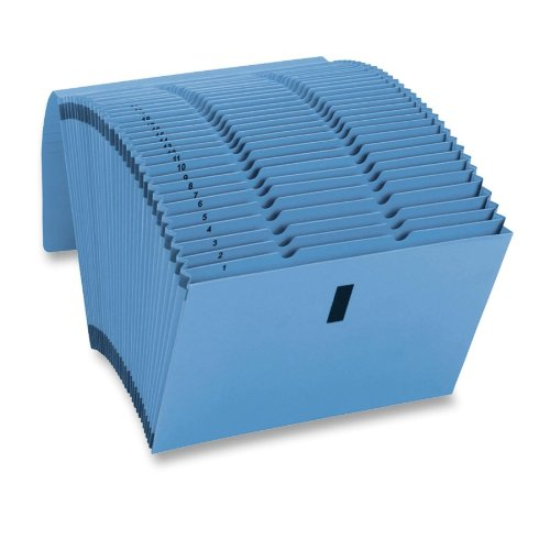 Smead WaterShed/CutLess Expanding File 70743, 31 Pockets, Daily (1-31),Flap with Hook and Loop Closure, Letter Size, Blue (70743)