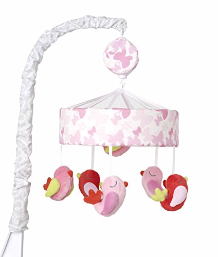 Just Born Botanica Musical Mobile, Pink/Red Birdies