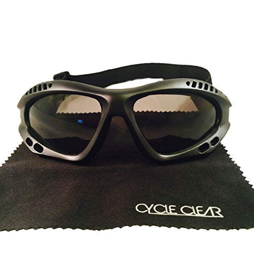 Motorcycle Goggles For Men - Windproof For Tear Free Ride - ZX1 By Cycle ()