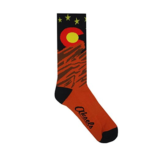 Aksels Colorado Red Rock Calf Socks for Men and Women ()