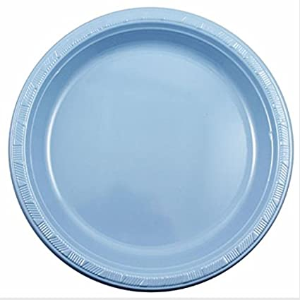 Exquisite 9 Inch. Light Blue plastic plates - Solid Color Disposable Plates - 50 Count  sc 1 st  Amazon.com & Amazon.com: Exquisite 9 Inch. Light Blue plastic plates - Solid ...
