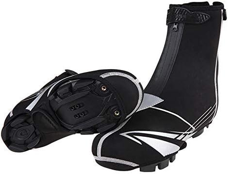 自転車靴カバー 反射バイクの靴は、足グリーブスマウンテンバイクの自転車の靴は、男性と女性をカバーして保護するために防水・防風雨や雪の開始をカバー 防水レインブーツ (Size : L 36-44)