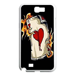 Custom For SamSung Note 4 Case Cover with Personalized Fire Heart