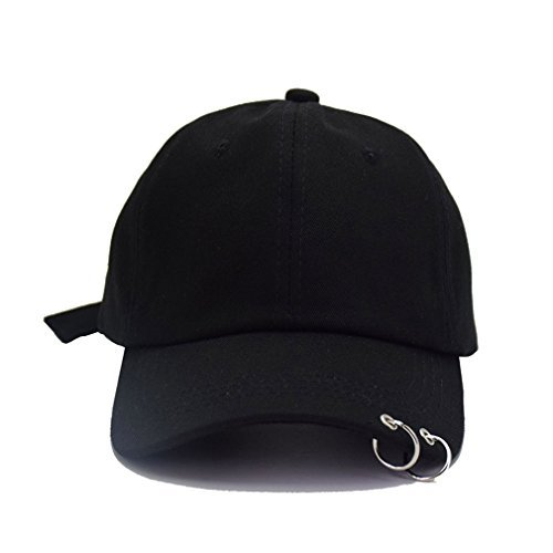 Kokkn BTS Embroidery Baseball Cap K-Pop Bangtan Boys Casual Adjustable Snapback  Hat (Black 2cfbe1ceb59a
