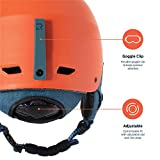 Retrospec H2 Ski & Snowboard Helmet, Convertible to