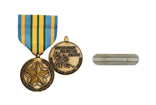 Military Outstanding Volunteer Service Medal (Outstanding Volunteer Service Medal Full Size Military Medal & Mounting Bar Reg Size)